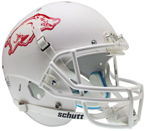 Arkansas Razorbacks White Schutt XP Replica Football Helmet