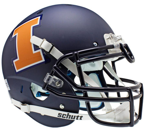 Illinois Fighting Illini Navy Schutt XP Authentic Football Helmet