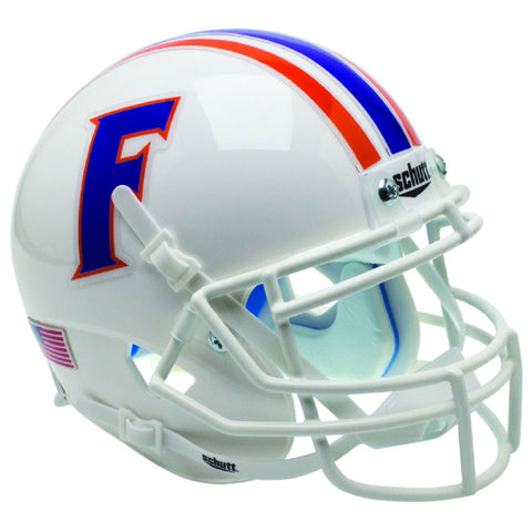 Florida Gators White Chrome Decal Schutt XP Replica Football Helmet