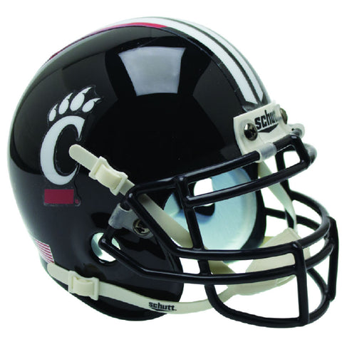 Cincinnati Bearcats Black White Stripe Schutt XP Authentic Football Helmet