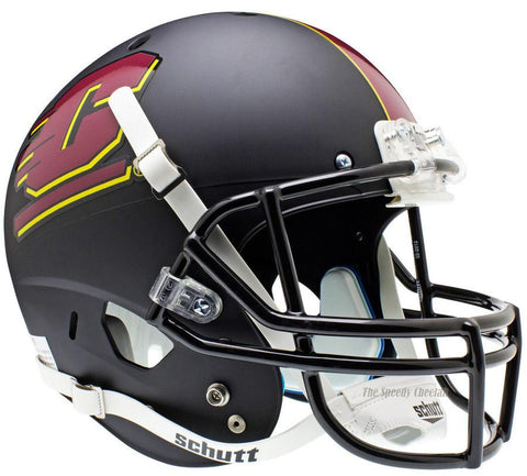 Central Michigan Chippewas Black Schutt XP Full Size Replica Football Helmet