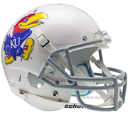 Kansas Jayhawks White Schutt XP Full Size Replica Football Helmet