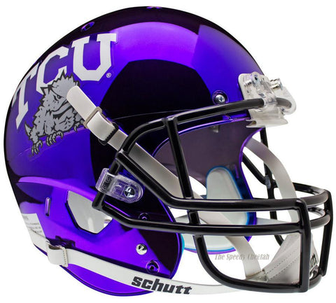 TCU Horned Frogs Chrome Schutt XP Replica Football Helmet