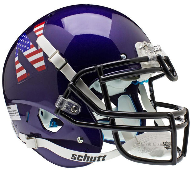 Northwestern Wildcats Flag Schutt XP Authentic NCAA Football Helmet
