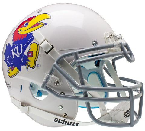 Kansas Jayhawks White Schutt XP Authentic Football Helmet