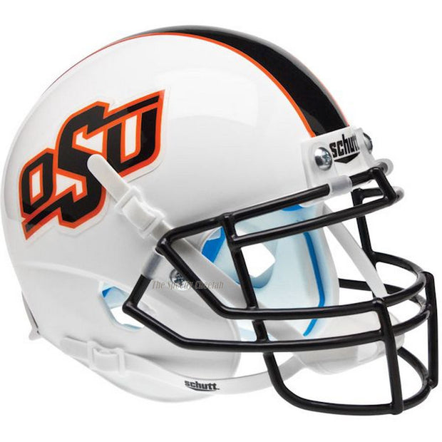 OK State Cowboys Matte White Black Stripe Schutt XP Authentic Football Helmet