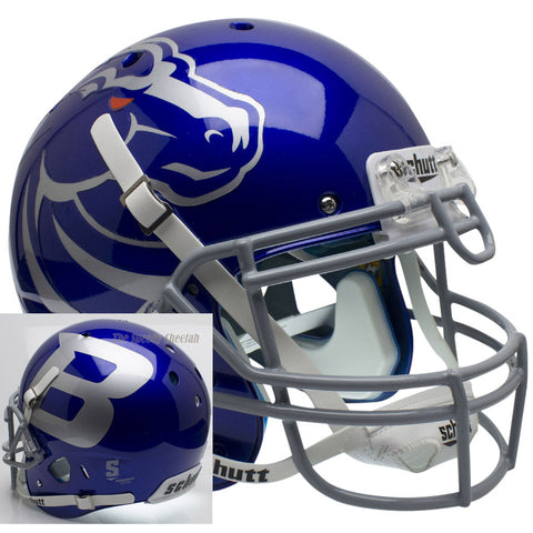 Boise State Broncos Blue Schutt XP Authentic Football Helmet