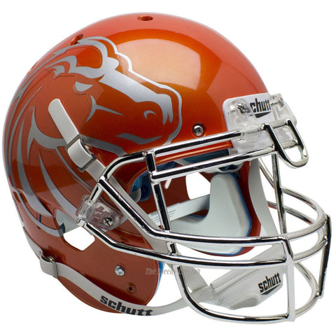 Boise State Broncos Orange Chrome Schutt XP Authentic Football Helmet