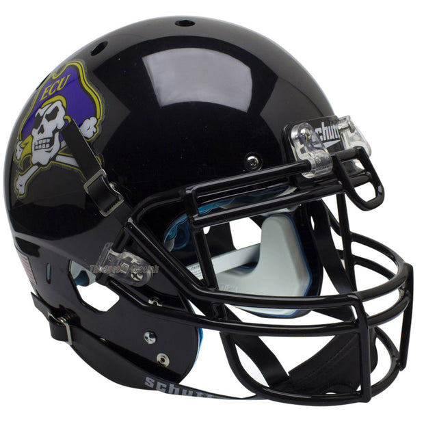 ECU Pirates Black Schutt XP Authentic Football Helmet