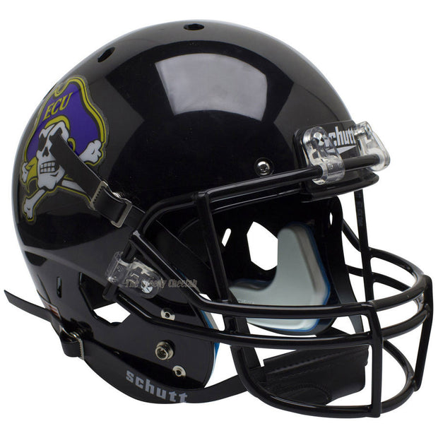 ECU Pirates Black Schutt XP Replica Football Helmet