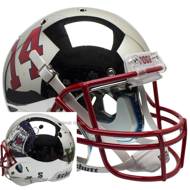 Fresno State Bulldogs Chrome Schutt XP Authentic Football Helmet