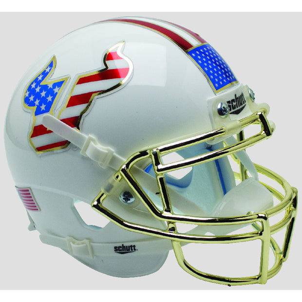 South Florida Bulls Flag Chrome Schutt XP Authentic Helmet