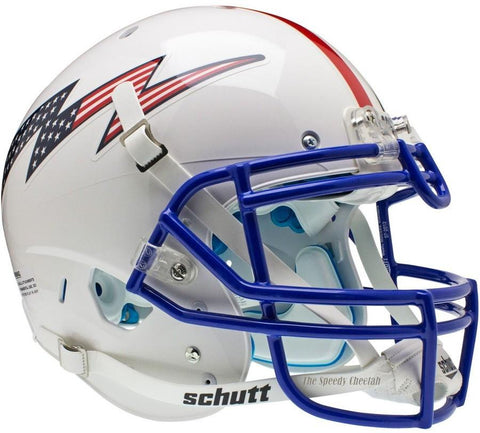 Air Force Falcons Flag Bolt Stripe Schutt XP Authentic Football Helmet