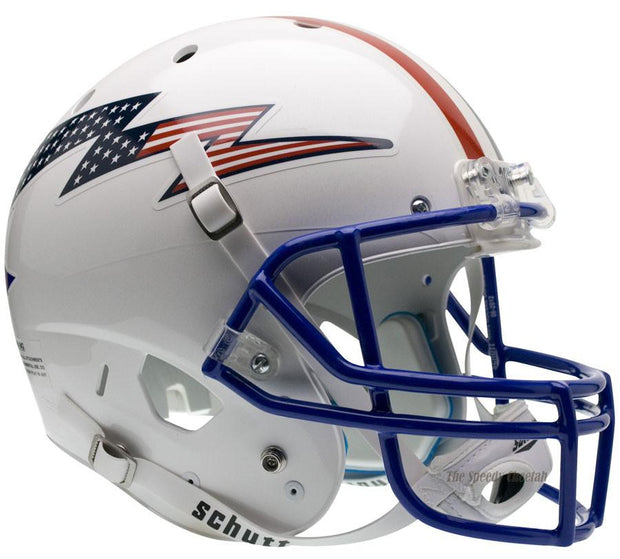 Air Force Falcons Flag Bolt Stripe Schutt XP Full Size Replica Football Helmet
