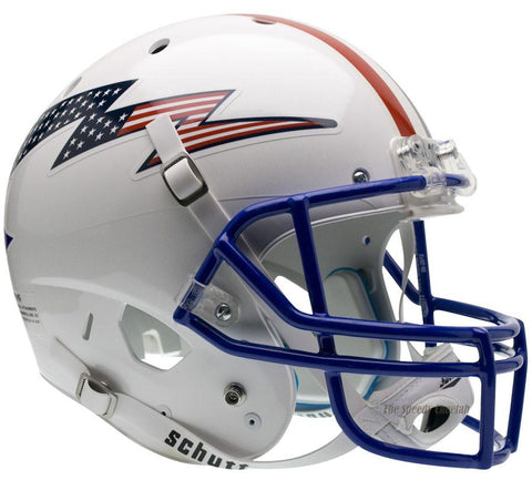 Air Force Falcons Flag Bolt Stripe Schutt XP Replica Football Helmet