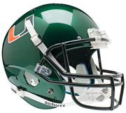 Miami Hurricanes  Green Schutt XP Full Size Replica Football Helmet