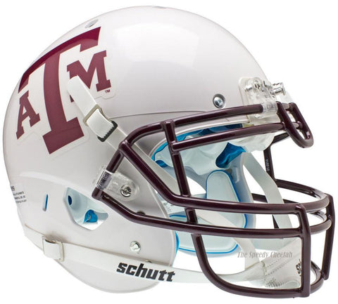 Texas A&M Aggies White Maroon Mask Schutt XP Authentic Football Helmet