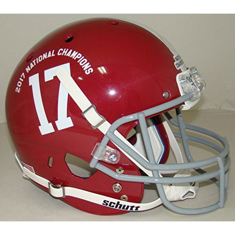 Alabama Crimson Tide 2017 National Champs Schutt XP Replica Football Helmet