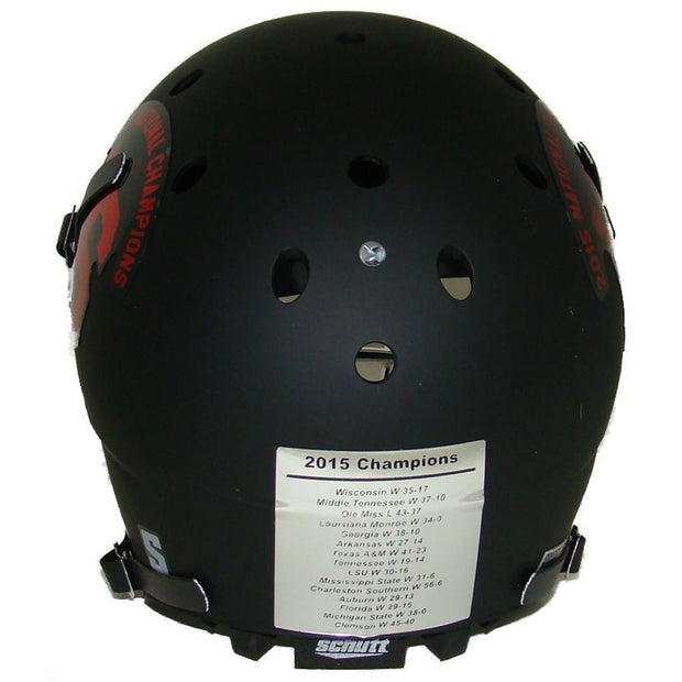 Alabama Crimson Tide Black 2015 Champs Schutt XP Replica Football Helmet