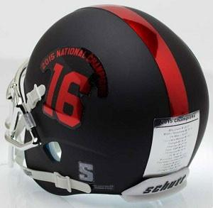 Alabama Crimson Tide Black 2015 National Champs Schutt XP Authentic Football Helmet