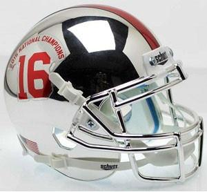 Alabama Crimson Tide Chrome 2015 Champs Schutt XP Authentic Football Helmet