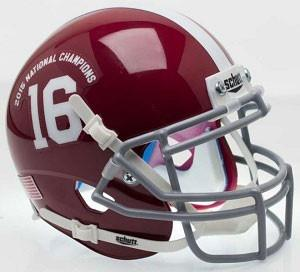 Alabama Crimson Tide 2015 National Champs Schutt XP Replica Football Helmet