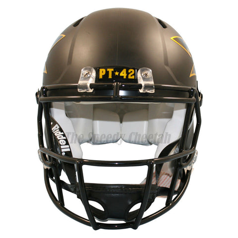 Arizona State ASU Sun Devils Satin Black Riddell Speed Authentic Football Helmet