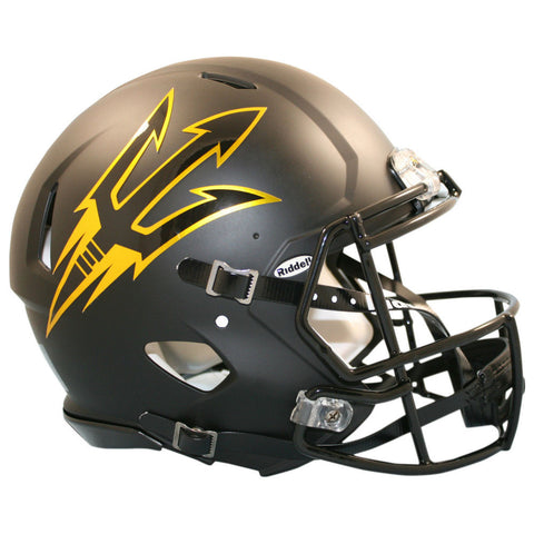 Arizona State Sun Devils ASU Satin Black Riddell Speed Authentic Football Helmet