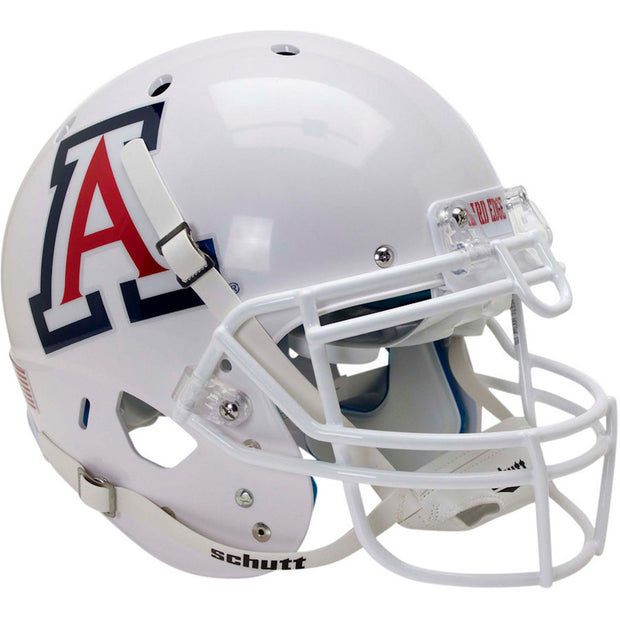 Arizona Wildcats White Chrome Decal Schutt XP Authentic Football Helmet