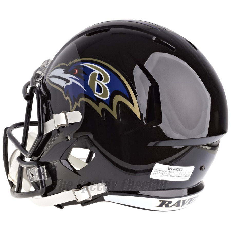 a107e48db52 ... Baltimore Ravens Riddell Speed Full Size Replica Football Helmet ...