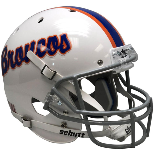 Boise State Broncos Script Pinstripe Schutt XP Authentic Football Helmet