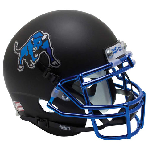 Buffalo Bulls Blue Chrome Schutt XP Replica Football Helmet