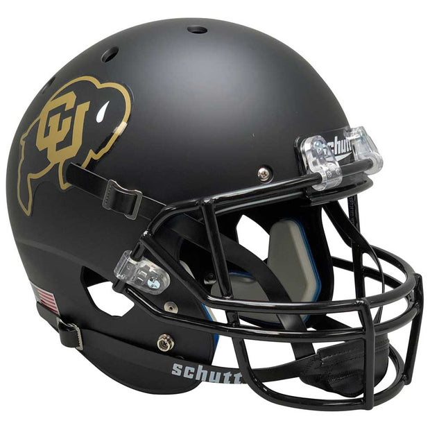 Colorado Buffaloes Black Gold Schutt XP Replica Football Helmet