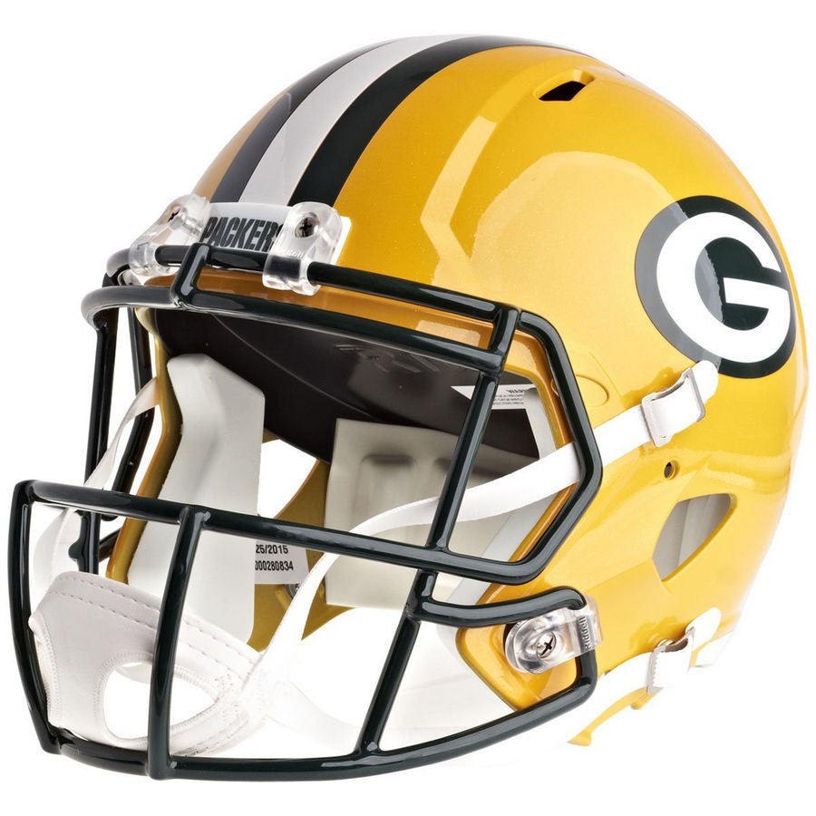 adeb0acf5 Green Bay Packers Riddell Speed Full Size Replica Football Helmet
