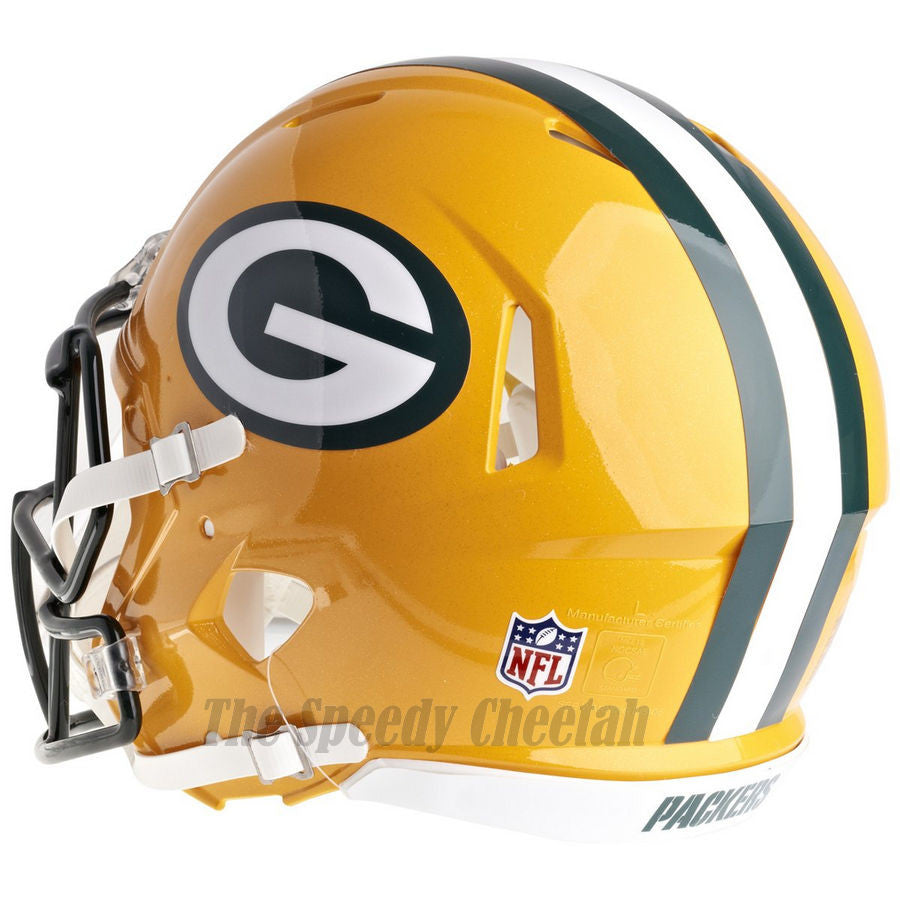 10832892bdb ... Green Bay Packers Riddell Revolution Speed Authentic Football Helmet ...