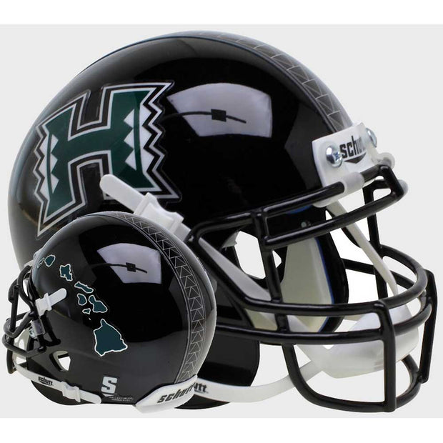 Hawaii Warriors Islands Schutt XP Authentic Football Helmet