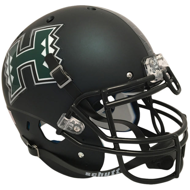Hawaii Warriors Matte Black Schutt XP Authentic Football Helmet