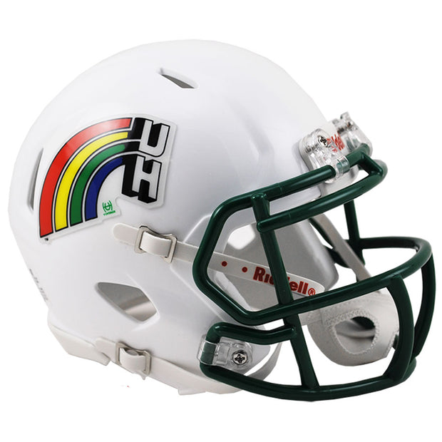 Hawaii Warriors Retro Riddell Speed Mini Football Helmet