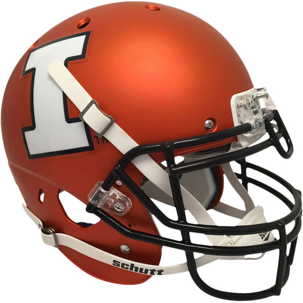 Illinois Fighting Illini Satin Orange Schutt XP Authentic Football Helmet