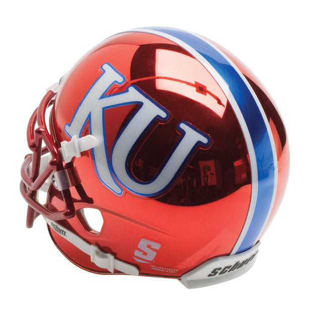 Kansas Jayhawks Red Chrome Schutt XP Replica Football Helmet