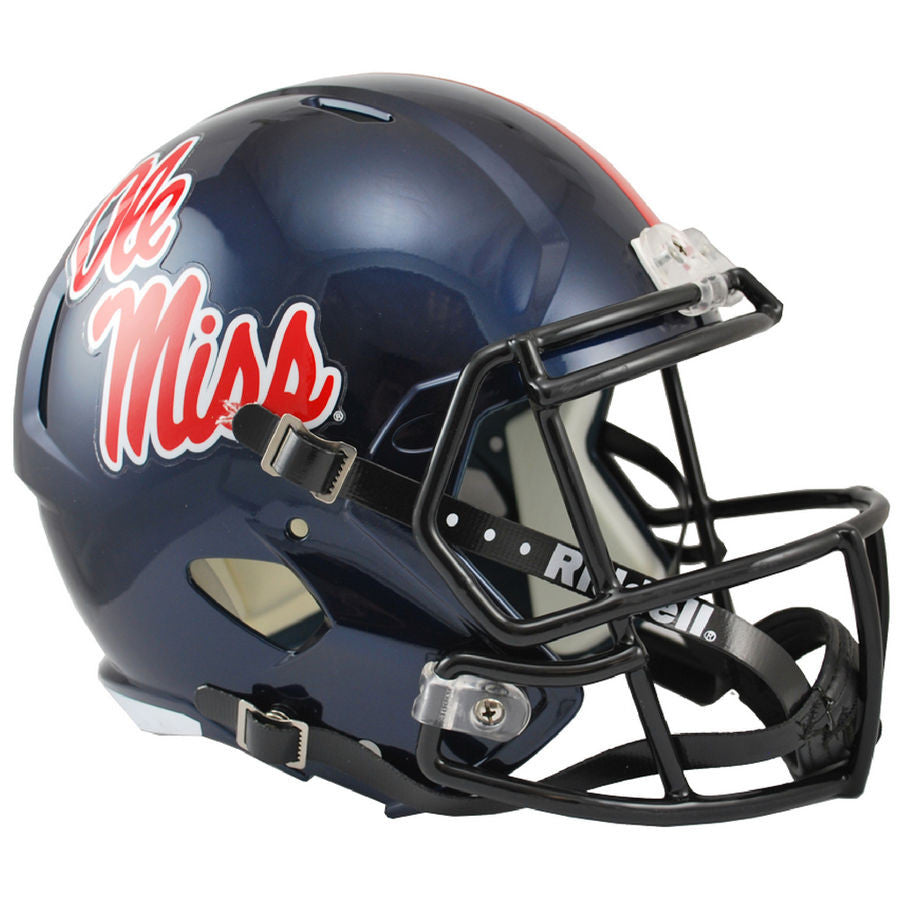 Mississippi Ole Miss Rebels Riddell Speed Full Size Replica Football Helmet  ... 84d6d95df