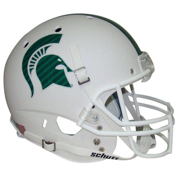 MSU Spartans White Schutt XP Authentic Football Helmet