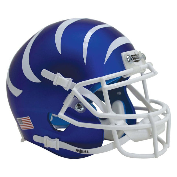 Memphis Tigers Matte Blue White Stripes Schutt XP Authentic Football Helmet
