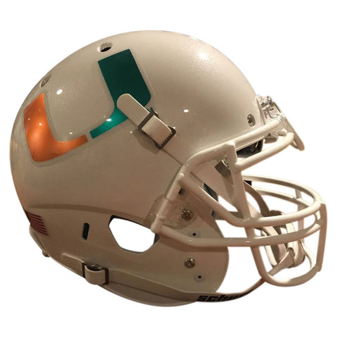 Miami Hurricanes Chrome Decal Schutt XP Authentic Football Helmet
