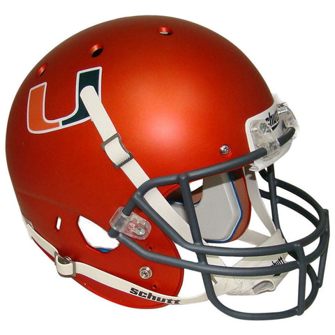 Miami Hurricanes Orange Schutt XP Replica Football Helmet