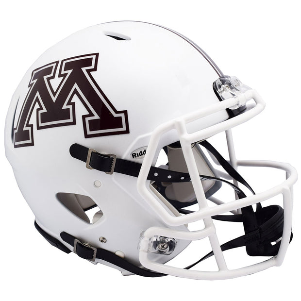 Minnesota Golden Gophers White  Riddell Speed Authentic Football Helmet