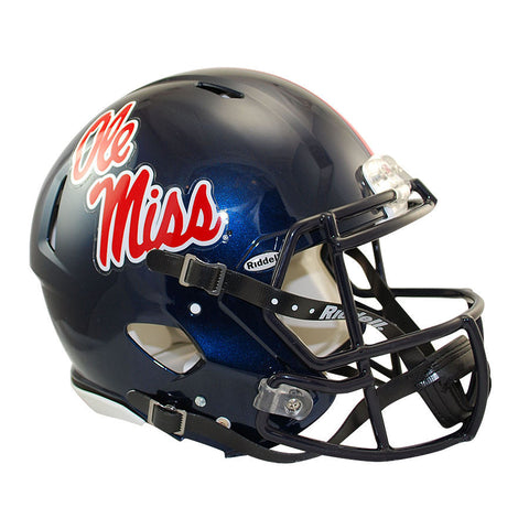 Mississippi Rebels Ole Miss Riddell Speed Authentic Football Helmet
