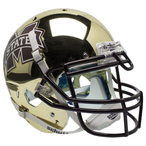 Mississippi State Bulldogs Chrome Gold Schutt XP Authentic Football Helmet