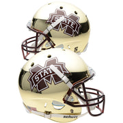 Mississippi State Bulldogs Chrome Gold Schutt Replica Football Helmet