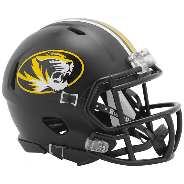 Missouri Tigers Black Anodized Riddell Speed Mini Football Helmet